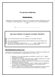 Tro- og loveerklæring til brug ved ... - Kulturstyrelsen