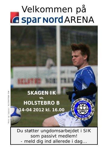 Skagen IK vs. Holstebro B, 14. april 2012
