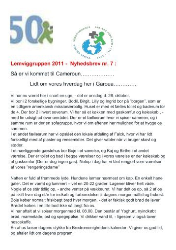Lemviggruppen 2011 - Nyhedsbrev nr. 7 : Så er vi ... - Lemvig kirkerne