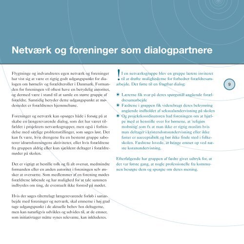 Metoder til styrkelse af samarbejdet med ... - Integrationsnet