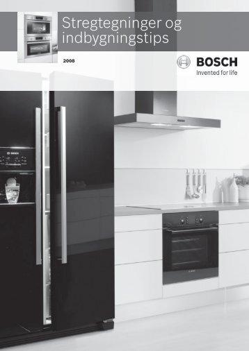 Stregtegninger og indbygningstips - Bosch