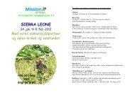 SIERRA LEONE - Mission Afrika