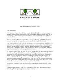 Bestyrelsens beretning 2009. - AB Enghave Park