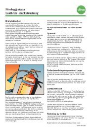 Förebygg skada Lantbruk - släckutrustning