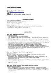 Anne-Mette Kirkemo - Veterinærinstituttet
