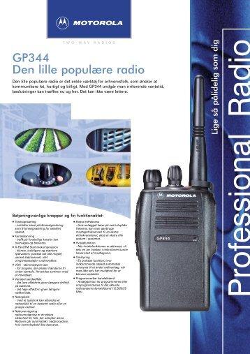 GP344 Den lille populære radio