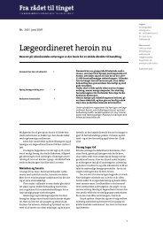 Fra rådet til tinget nr. 243: Lægeordineret heroin nu - Encod