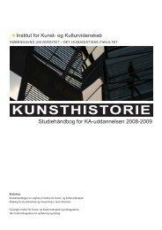 kunsthistorie - Institut for Kunst- og Kulturvidenskab - Københavns ...