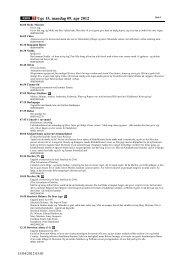Uge 15, mandag 09. apr 2012 - DR