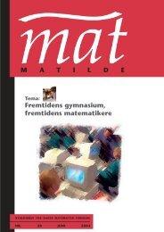 MAT 15 - Matilde - Dansk Matematisk Forening