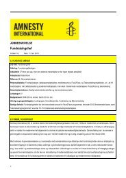 Fundraisingchef - Amnesty International