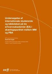 Undersøgelse af internationale studerende og biblioteket på ... - DEFF