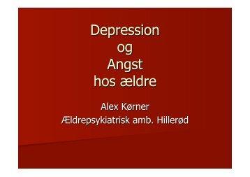 Alex Kørner•Ældres depression og angst•29112011 - PsykiatriFonden