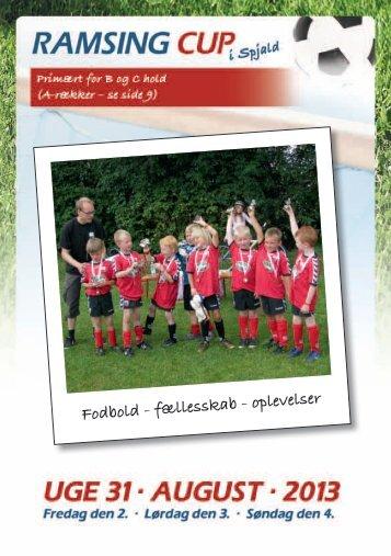 Fodbold - fællesskab - oplevelser - RAMSING Cup i Spjald