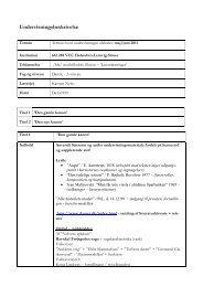 Undervisningsbeskrivelse - VUC Holstebro Lemvig Struer