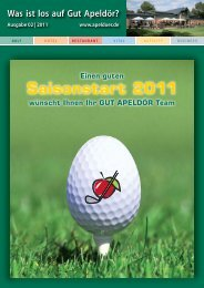 Saisonstart 2011 - Golf Club Gut Apeldoer