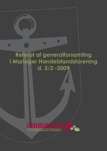 Referat af generalforsamling i Mariager Handelstandsforening d. 3/3 ...