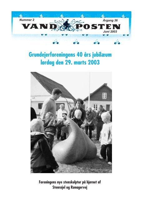 Grundejerforeningens 40 års jubilæum lørdag den 29. marts 2003