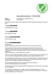 Generalforsamling d.10-03-09 - Sb50 Fodbold