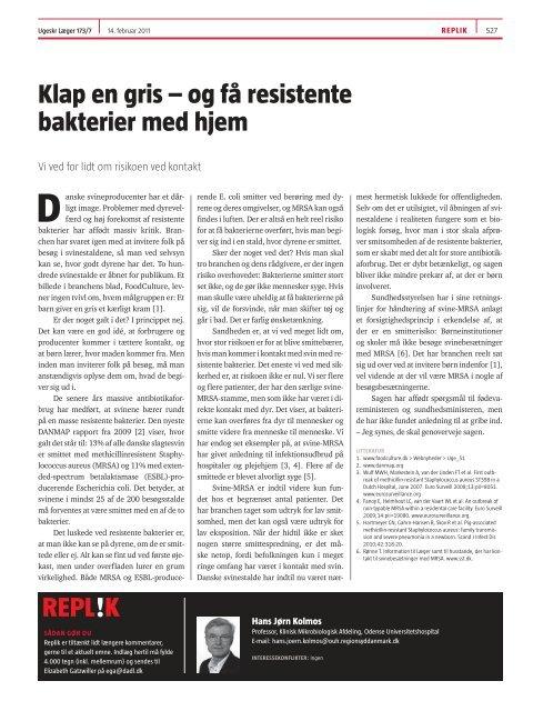 Klap en gris – og få resistente bakterier med hjem - Sickpigs.dk