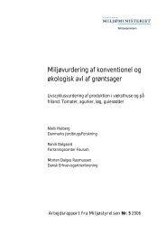 Miljøvurdering af konventionel og økologisk avl af ... - Miljøstyrelsen