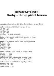 Resultatliste Karby hurup 2011 - DDS Thy-Mors