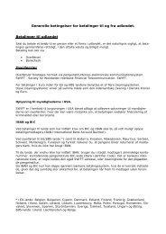 Generelle betingelser for betalinger til og fra udlandet - Østjydsk Bank