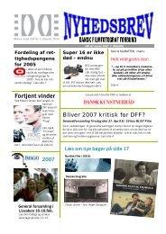DFF Nyhedsbrev nr. 67, marts 2007 - Dansk Filmfotograf Forbund