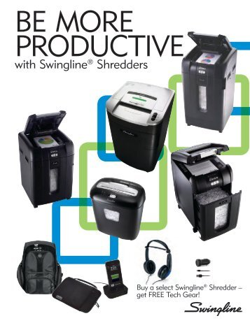 with Swingline® Shredders - MyOfficeProducts.com