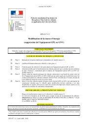 Modification de la source d'énergie (suppression de l'équipement ...