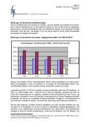Ændring i de foretrukne butikskoncepter - DSK