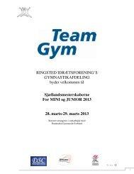 Indbydelse - Danmarks Gymnastik Forbund