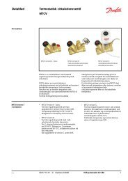 Datablad Termostatisk cirkulationsventil MTCV - Danfoss Varme