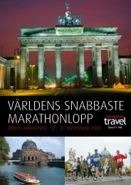 världens snaBBaste Marathonlopp - Springtime Travel
