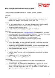 Se referatet fra mødet den 5. maj 2009 - Roskilde Roklub
