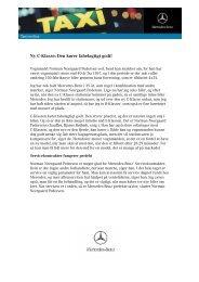Ny C-Klasse: Den kører fabelagtigt godt! - Mercedes-Benz Danmark