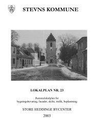 Lokalplan nr. 23 af 2003 - Stevns Kommune