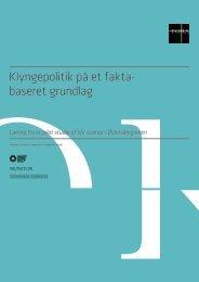 Klyngepolitik på et faktabaseret grundlag - Dansk Biotek