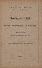 Rekruteringsstatistik for den norske Armee for Aaret 1897.