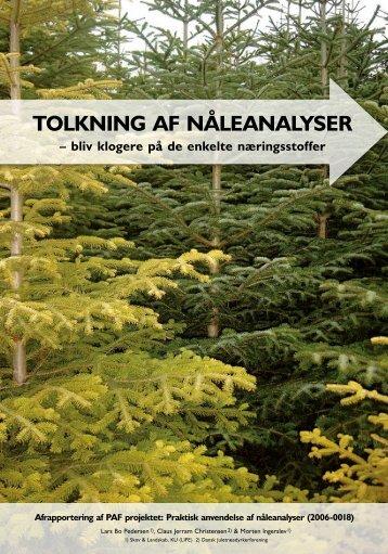 Tolkning af nåleanalyser – bliv klogere på de ... - Danske Juletræer