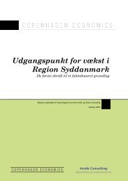 Udgangspunkt for vækst i Region Syddanmark - Erhvervsstyrelsen