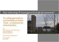 malgruppeanalyse-museer-og-teknologi - Målgruppeanalyse ITU