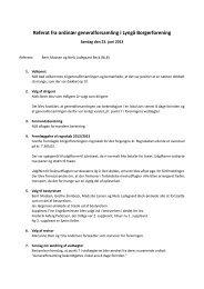 Referat fra ordinær generalforsamling i Lyngå Borgerforening