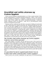 Graviditet ved colitis ulcerosa og Crohns Sygdom - Colitis-Crohn ...