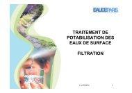 traitement de potabilisation des eaux de surface filtration