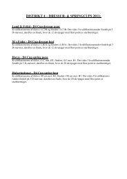 DISTRIKT 4 – DRESSUR- & SPRINGCUPS 2011: - DRF Distrikt 4