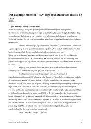 syv dagbogsnotater om musik og rum - Sven Erik Werner