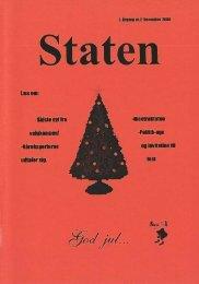 December 2000, årgang 3, nr. 2 - STATEN