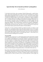 Apprenticeship: Om teori/praksis-problemet i pædagogikken