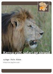Kenya golf, safari og strand.pdf - Africa Tours